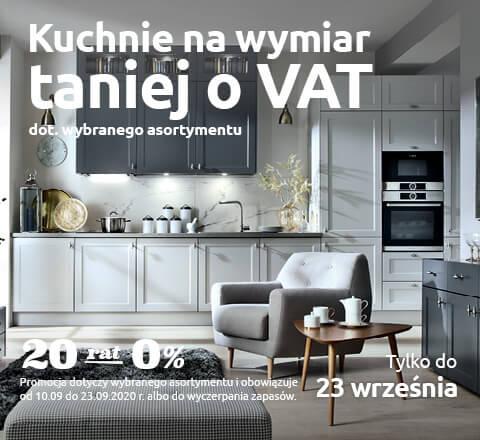 Kuchnie na wymiar taniej o VAT. Sprawdź!