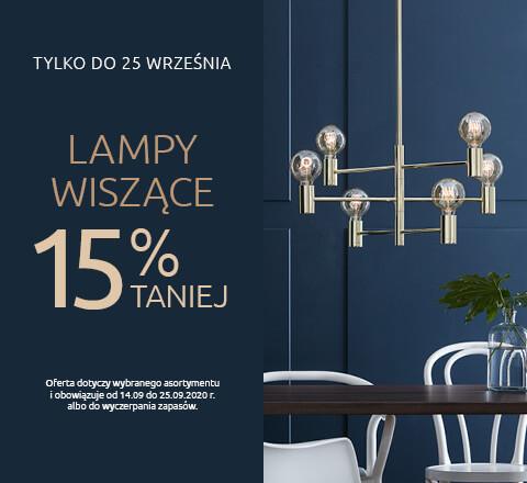 Lampy wiszące 15% taniej. Sprawdź!
