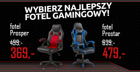 Wybierz idealny fotel gamingowy w Black Red White.