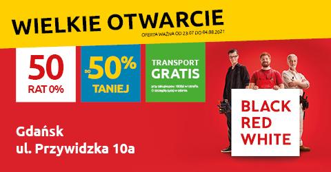 Wielkie otwarcie nowego salonu Black Red White w Gdańsku. Odwiedź nas!