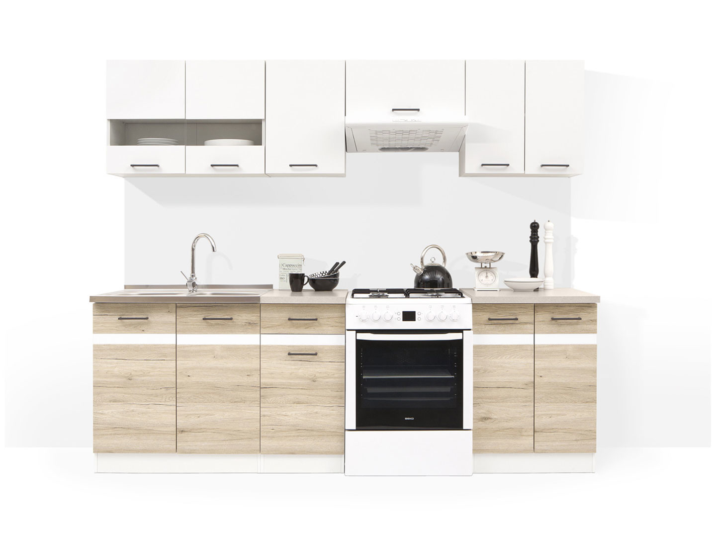 Kitchen cabinets Black Red White online furniture store